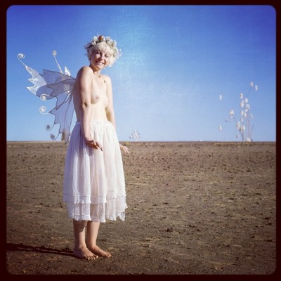 Fairy girl. #burningman #afrikaburn #nude
