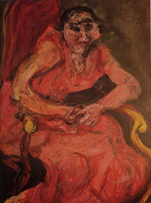 faciality:  Chaim Soutine Woman in Pink 1921-22