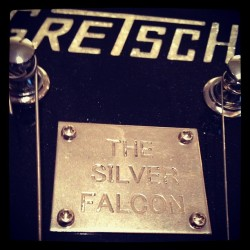 Lovin' on this baby today… #gretsch #silverfalcon