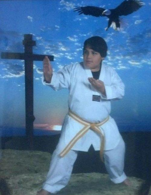 Jesus is a black belt