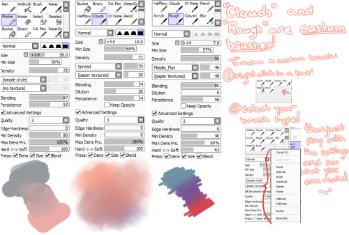 jr-mint:  brush settings i use in paint tool sai! u v u
