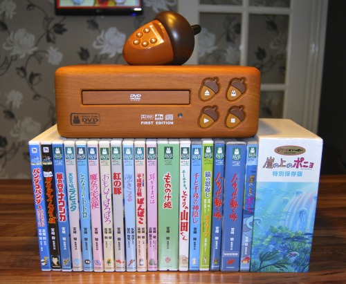 disgustinghuman:  deschain:  Japanese Studio Ghibli DVD player and DVD's. Just a few more to get :D  *falls over*