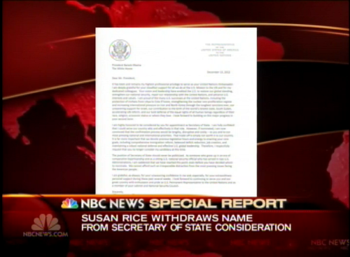 nbcnightlynews:  BREAKING: Susan Rice says she is withdrawing her name from consideration for Secretary of State  That's no fun.