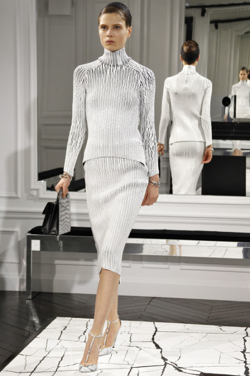 labellefabuleuse:  Caroline Brasch-Nielsen on the runway for Balenciaga, Fall 2013
