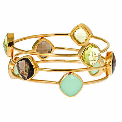 Rock out with this gorgeous gemstone square bracelet and it's unique colors!  Check out our Sonya Rene Bangles! In Green Onix or Seafoam Chalcedony.  http://yamakny.com/collections/jewelry/products/perry-segal-14k-gemstone-square-bracelet-green-onix  http://yamakny.com/collections/jewelry/products/copy-of-perry-segal-14k-gemstone-square-bracelet-green-onix  XOXO, Yamak