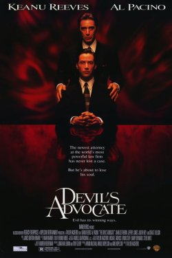The Devil's Advocate (1997) I thought this was a really cool film, for the most part. I liked how it started off quite innocently, and grew more and more bizarre. It reminded me a lot of Roman Polanski's Repulsion (1965) and Rosemary's Baby (1968). It's too bad they didn't have a stronger lead, as Keanu Reeves doesn't really cut it. Al Pacino is awesome though. I was rather disappointed with ending - I wish it had been far more dark and bleak. Overall, though, I'd recommend it.