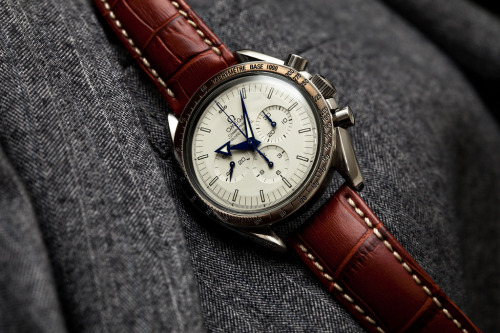 Custom Omega Speedmaster White Dial