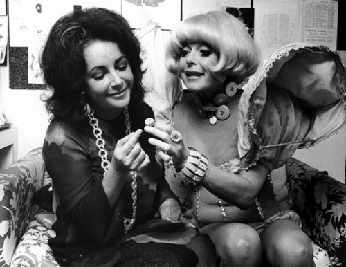 Elizabeth Taylor and Carol Channing