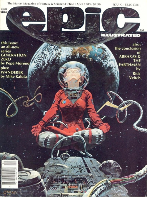 Cover to the April 1983 edition of Marvel's Epic; which was more or less their version of Heavy Metal.