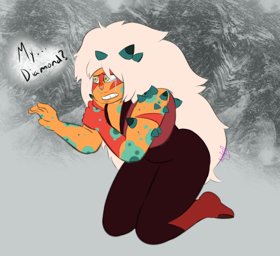 A friend suggested I draw corrupted jasper :3c   Imagine the betrayal when jasper finds out