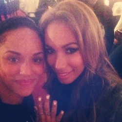 Me and the lovely leona Lewis with her nails I did last night.