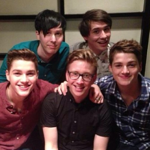 tyleroakley:  Boys night out with Jack, Finn, Phil, and Dan!