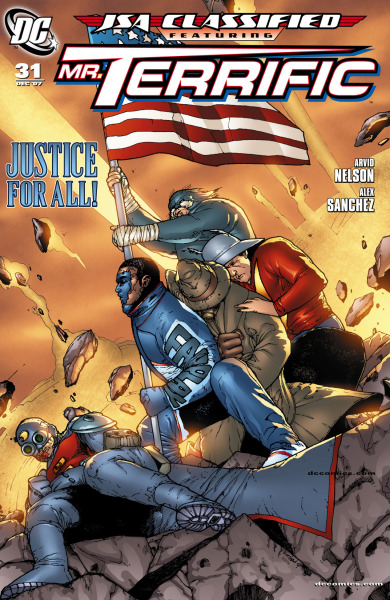 This week's DC Comics' Black History Month sale at Comixology has JSA: Classified #29-31 featuring Mister Terrific on sale.  Also on sale are the Milestone crossover issues of Justice League of America. The team at this time had former JSA members Black Canary, Hawkgirl (Kendra Saunders), and Red Tornado in its ranks. Last but not least The Brave and the Bold #26 which features a Xombi and Spectre teamup. The Spectre's human host at the time was Crispus Allen. Go check it out.