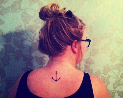 "I've wanted an anchor tattoo ever for about 6 years now. I got the idea from Hebrews 6:19 which says ""we have this hope as an anchor for the soul, firm and secure"". It also is a symbol that has shown up no matter where I am and continues to remind me that I am anchored to something greater than myself."
