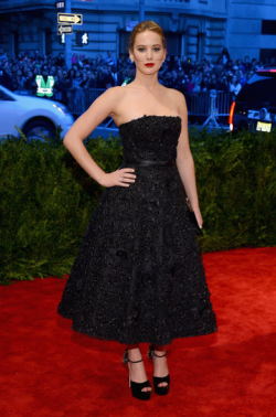 Jennifer Lawrence in Dior, 2013 Met Gala
