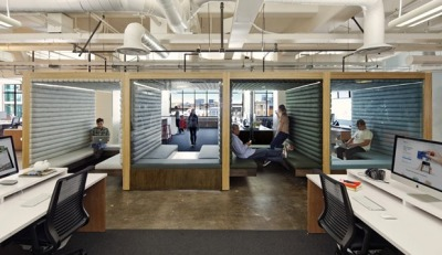 Friday Fun time! Check out the clean-line cubist offices of Jack Dorsey's San Francisco mobile payments startup, Square. Wouldn't we all love to work in an office that looks this cool …