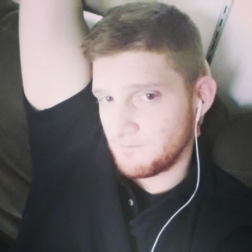 Obligatory arm over head shot. #ginger #pale #beard #scruffy #instabeards