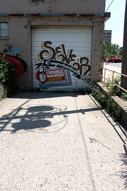 Sever Graffiti on Flickr.Sever graffiti piece on pull down gate in Detroit, Michigan. - Snake Oil Salesman