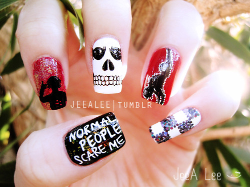 American Horror Story Nails | Tate Langdon