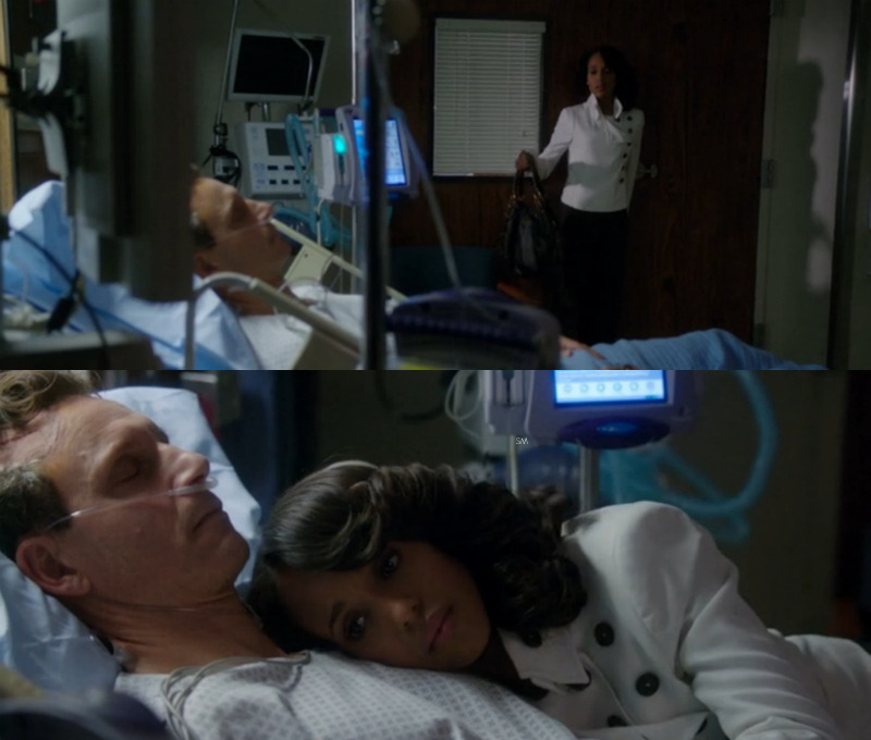 Olivia and Fitz's #OneMinute moment Wearing her Gladiator Armor (her white jacket), Olivia Pope tackles her last task - #VisitFitz. It's in this #OneMinute moment she actually touches Fitz ever since he was shot. After all she's done up to this moment, Fitz is still in a coma. #GladiatorsBeStrong