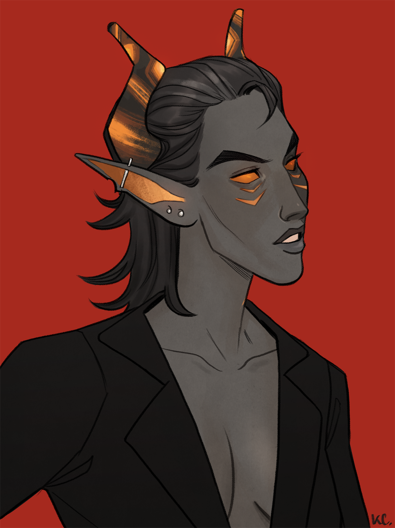 made a new tiefling warlock/paladin named crow! she's very much an oc that shoved her way to the front of my brain and won't leave me alone. this isn't her usual armour/clothes, just wanted to draw some boobs and hairshe's an original adopt design by apotheosisadoptables! #dungeons and dragons #tiefling#warlock#paladin#dnd#d&d#ocs#drawerings#crow #another lesbab for my collection