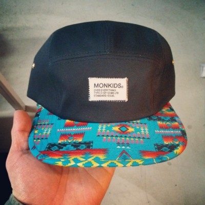 korea retail shop `sopooom` X monkids collaboration 5panel cap.  only under 40pcs.  only in sopooom in seoul of korea. http://www.sopooom.com  available on Thursday.