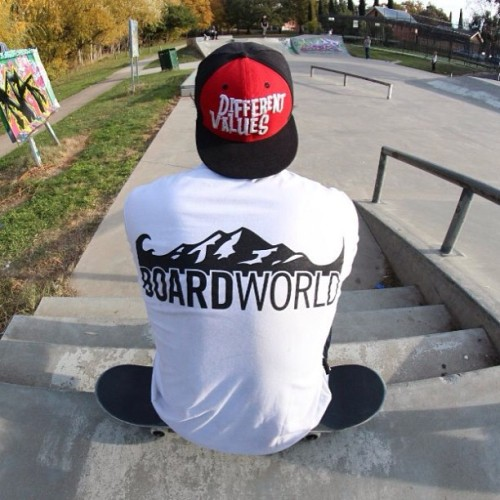 rep what you believe in. @boardworld @differentvalues #skateboarding #weekend #love #fun
