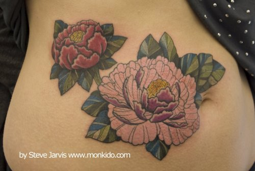 Red and pink peonies by Steve Jarvis