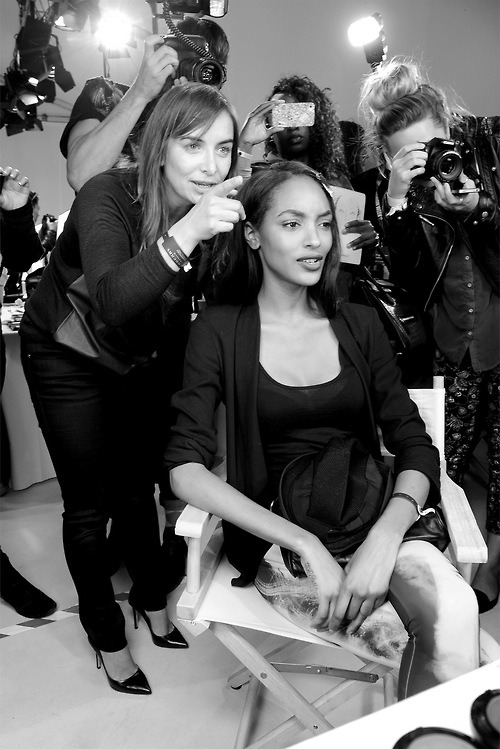 timetopretend01:  Jourdan Dunn behind the scenes for Burberry ad campaign