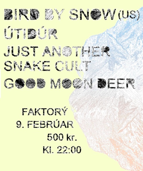 Concert in Reykjavík on February 9th.