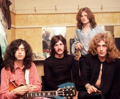 modrules:  Zep in their dressing room at the London Lyceum, 1969