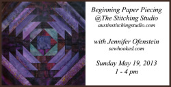 Learn to Paper Piece… TODAY! There is still room in my Beginning Paper Piecing Class at The Stitching Studiohere in Austin! If…View Post