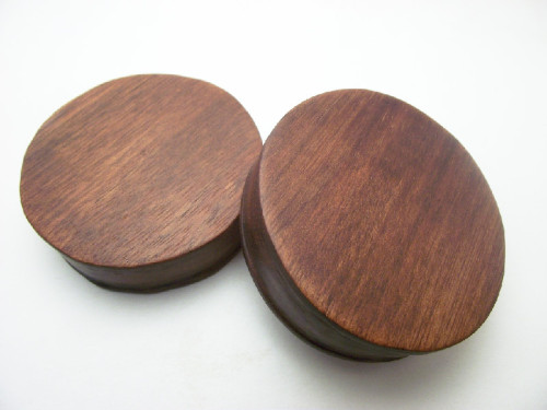 "inretrospectorganics:  A pair of 2 3/16"" (55.5mm) Bloodwood solids."