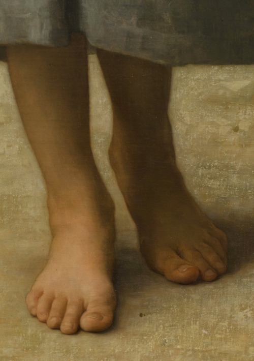 c0ssette:  The Water Girl (Young Girl Going to the Spring) detail,1885.William-Adolphe Bouguereau.