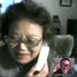 skyped mum and tried to say #happymothersday but she didn't hear my voice. plus she didn't know how to turn on the volume, so we ended up using a phone while skyping. (area81)