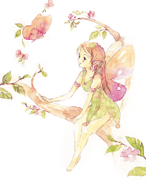 do you feel it? spring is coming. art by http://melonkitten.deviantart.com/
