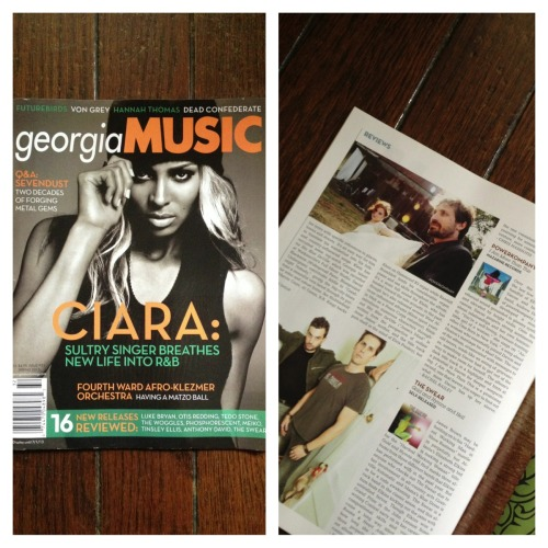 "Just got our copy of Georgia Music Magazine with our first write-up of the new album, ""I Am More Than This!"" We're blushing, it's so complimentary. Plus Ciara is on the cover. Meow. (hearts pounding)"