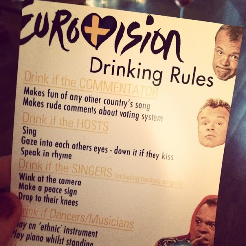 Some handy rules if you're in need. #eurovision