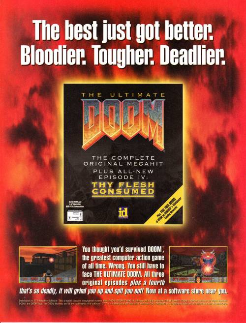 The Ultimate Doom advert.