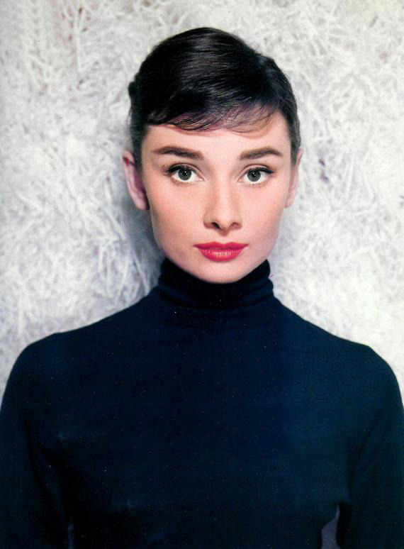 Audrey Hepburn photographed by Bud Fraker for Funny Face, 1956.