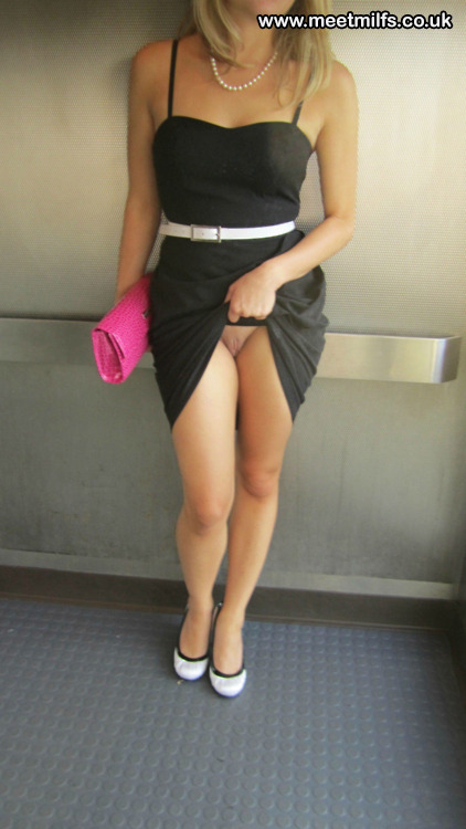 Mature women wearing short dresses