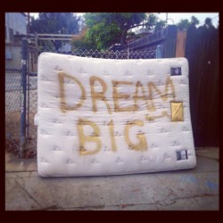 Mattress wisdom. #monday #mattresswisdom #streetwisdom #streetart #what #dream #random #venice #art