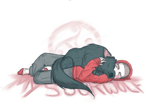 sterek-in-the-stitching:  Sourwolf by Kittykatpaws
