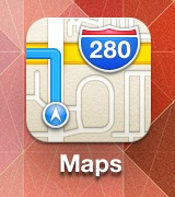 sleighdirector:  Reminder that the Apple Maps icon actually suggests that you drive right off an overpass  Not surprised.