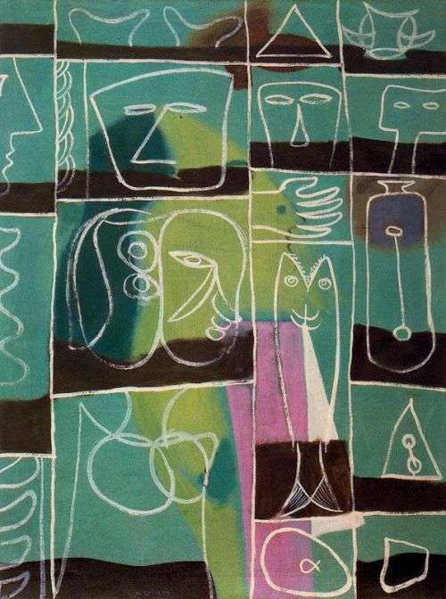 encuentroperdido:     Adolph Gottlieb, Sailor Enchantment, 1945