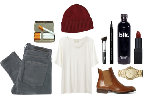 Untitled #133 by melodycollver featuring a red hat