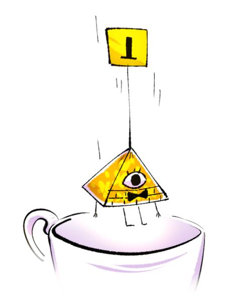 bill cipher gravity falls tea doodle fan art