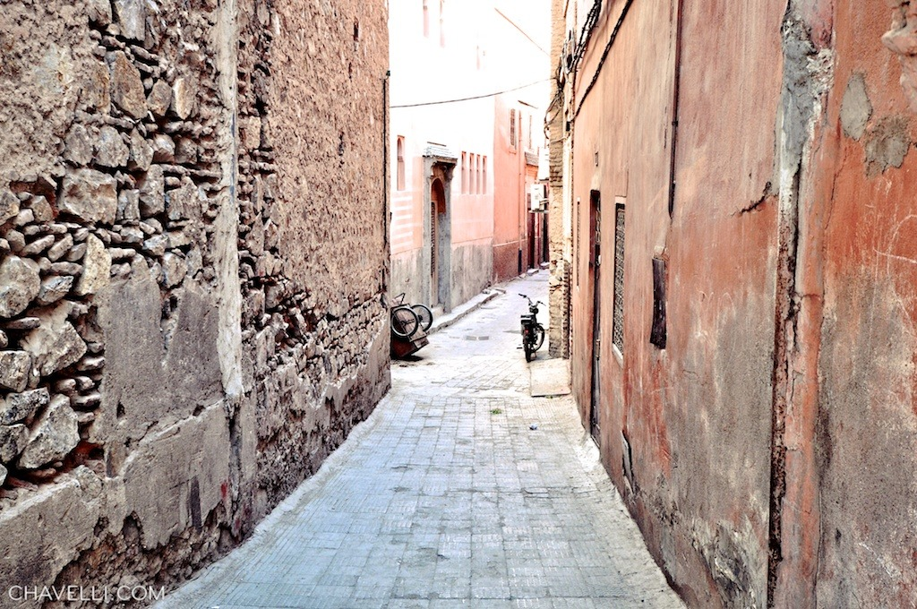 Narrow alleys of the Souk in Marrakech