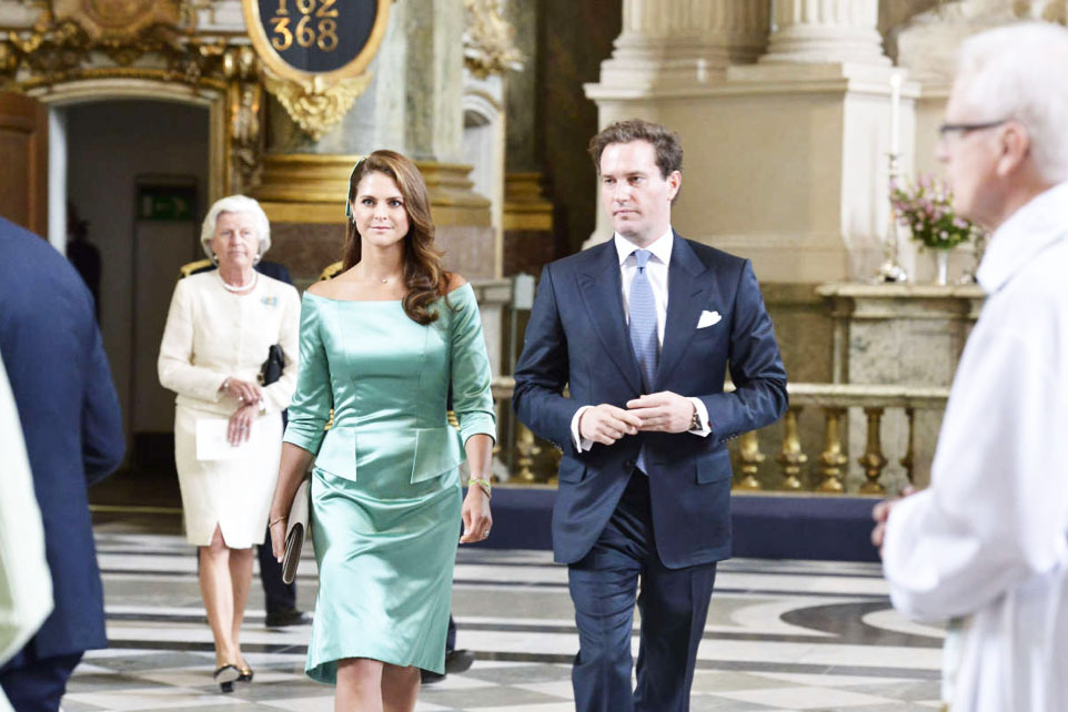 "royalwatcher:  Her Royal Highness Princess Madeleine and Mr. Christopher O'Neill attended this Sunday morning at a religious ceremony in the Royal Chapel of the Palace in Stockholm to ""publish"" their banns of marriage. The families of the future spouses were also present, and the public could attend the ceremony. The guests will be received by the King and Queen at 14:00 at the royal palace for a reception. Their wedding will take place on 8 June next in the same Royal Chapel."