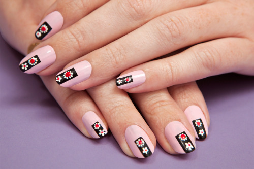 Learn how to create a floral manicure inspired by the Prada runway in six easy steps.